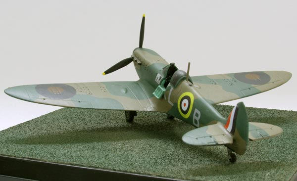 Supermarine Spitfire Mk I 1/72 scale pewter limited edition aircraft model as flown by Al Deere in the Battle of Britain. Handmade by Staples and Vine Ltd.