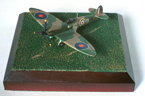 Supermarine Spitfire Mk I 1/144 scale pewter limited edition aircraft model as flown in the Battle of Britain by Al Deere. Handmade by Staples and Vine Ltd.