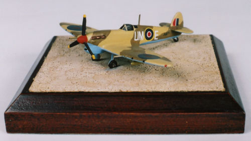 Supermarine Spitfire Mk VC 1/144 scale pewter limited edition aircraft model as flown in North Africa. Handmade by Staples and Vine Ltd.