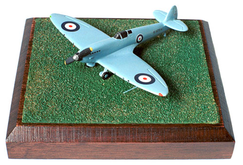 Supermarine Spitfire Prototype 1/144 scale pewter limited edition aircraft model. The Spitfire prototype in its early all blue scheme. Handmade by Staples and Vine Ltd.