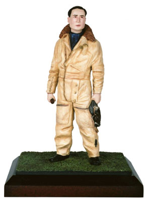 Squadron Leader Douglas Bader 120mm limited edition figure of the famous Battle of Britain ace. Handmade by Staples and Vine Ltd.
