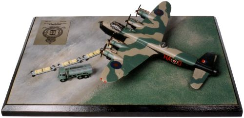Short Stirling Mk III 1/144 scale pewter limited edition aircraft model as flown by A L Aaron who was awarded the Victoria Cross. Handmade by Staples and Vine Ltd.