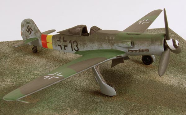 Focke Wulf Ta 152H-0 1/72 pewter limited edition aircraft model. The high altitude aircraft designed by Kurt Tank. Handmade by Staples and Vine Ltd.