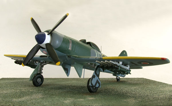 Hawker Tempest Mk II 1/72 scale limited edition pewter aircraft model. The Centaurus powered mark of the Tempest with rockets. Handmade by Staples and Vine Ltd.