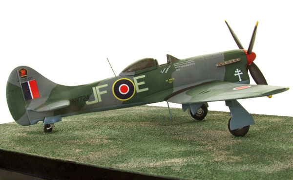 Hawker Tempest Mk V 1/72 scale pewter limited edition aircraft model. As flown by the famous French ace Pierre Closterman. Handmade by Staples and Vine Ltd.