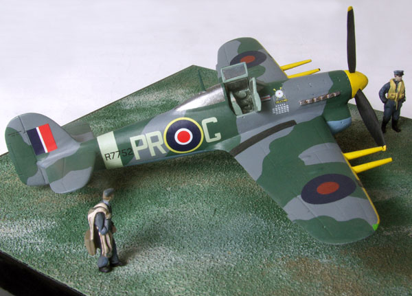 Hawker Typhoon MK IB 1/72 scale pewter limited edition aircraft model. As flown by the famous test pilot Roland Beamont. Handmade by Staples and Vine Ltd.
