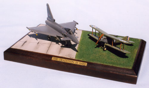 The Tradition Is Safe 1/144 scale pewter limited edition aircraft models to celebrate the 8th anniversary of the RAF. Handmade by Staples and Vine Ltd.