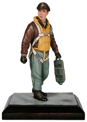 Another Day Another Mission limited edition pewter 120mm United States Air Force bomber pilot figure. Handmade by Staples and Vine Ltd.
