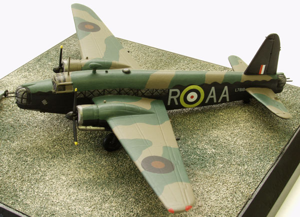 Vickers Wellington Mk IC 1/144 scale pewter limited edition aircraft model as flown by J Ward holder of the Victoria Cross. Handmade by Staples and Vine Ltd.
