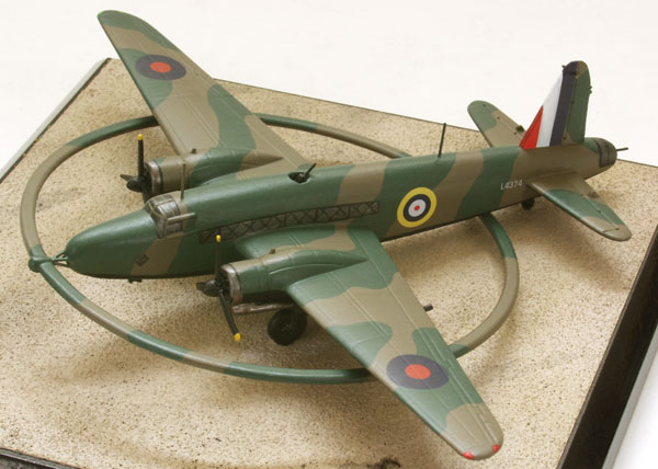 Vickers Wellington Mk DWI 1/144 scale pewter limited edition aircraft model as used to detonate mines at sea. Handmade by Staples and Vine Ltd.