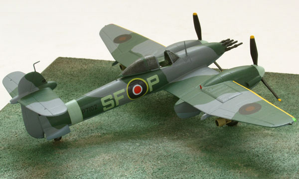 Westland Whirlwind Mk I 1/72 scale pewter limited edition aircraft model. A bomb carrying twin engine fighter. Handmade by Staples and Vine Ltd.