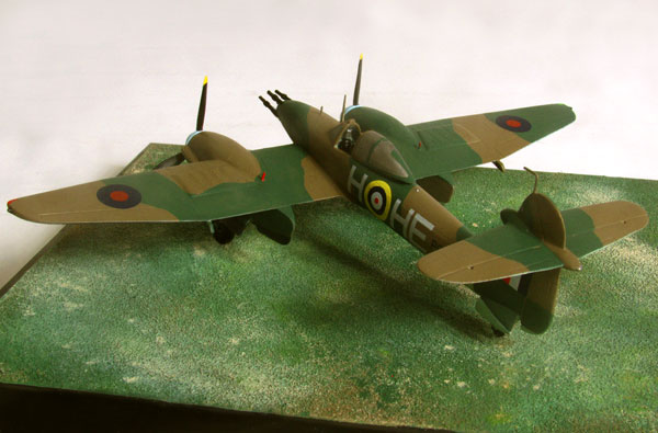 Westland Whirlwind Mk I 1/72 scale pewter limited edition aircraft model. The twin Perigrine engined fighter. Handmade by Staples and Vine Ltd.