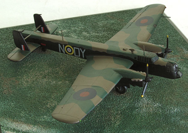 Armstrong Whitworth Whitley Mk V 1/144 scale pewter limited edition aircraft model as flown by Leonard Cheshire. Handmade by Staples and Vine Ltd.