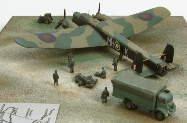 Armstrong Whitworth Whitley Mk V 1/144 scale pewter limited edition aircraft model as used on 'Operation Colossus'. Handmade by Staples and Vine Ltd.