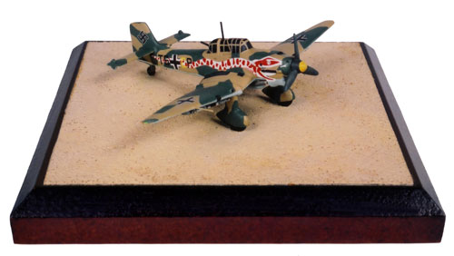 Junkers Ju 87R-2 Stuka 1/144 scale pewter limited edition aircraft model. Featuring a stunning snake graphic. Handmade by Staples and Vine Ltd.